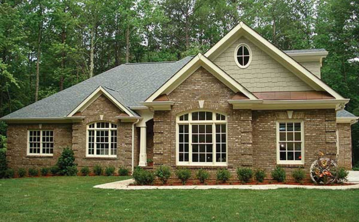 Brick Ranch House Plans One Story All