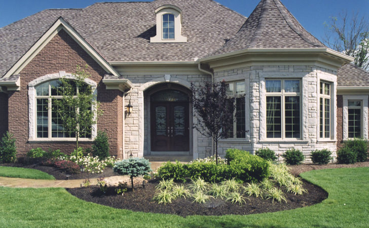 Brick Stone Combinations Homes Stucco