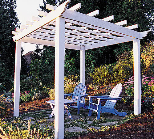 Build Backyard Pergola Sunset