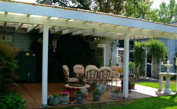 Build Covered Patio White Paint