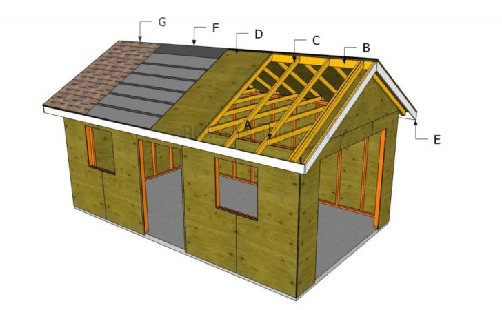 Build Garage Roof Howtospecialist