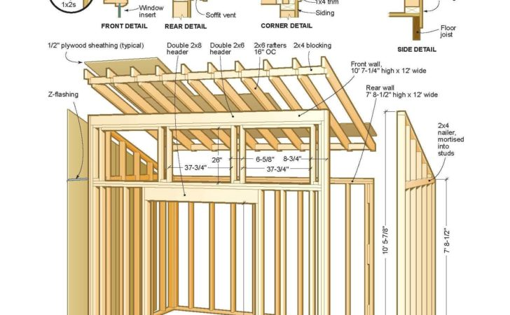 Build Lean Shed Plans Quick Woodworking