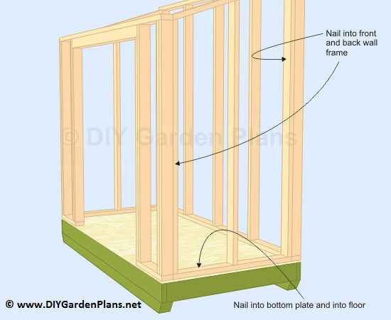 Build Lean Shed Side Walls Cut Roof Rafters