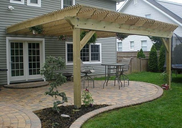 Build Pergola Attached House Hunker