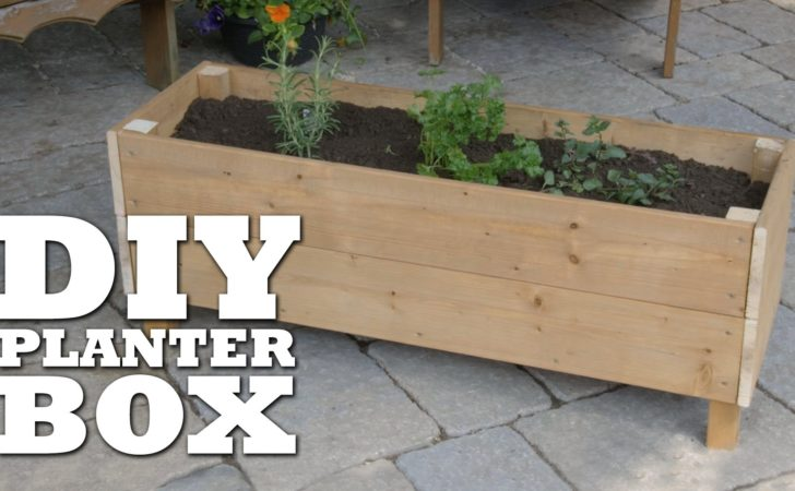 Build Planter Box Youtube