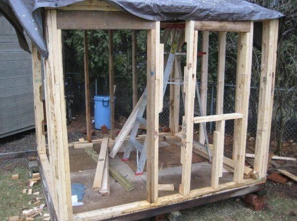 Build Playhouse Wooden Pallets Step
