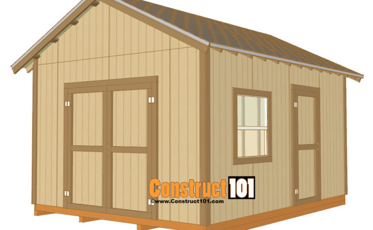 Build Storage Shed Plans Gable Roof