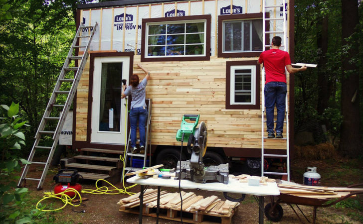 Build Your Own Tiny House Wheels Small Pieces Wood