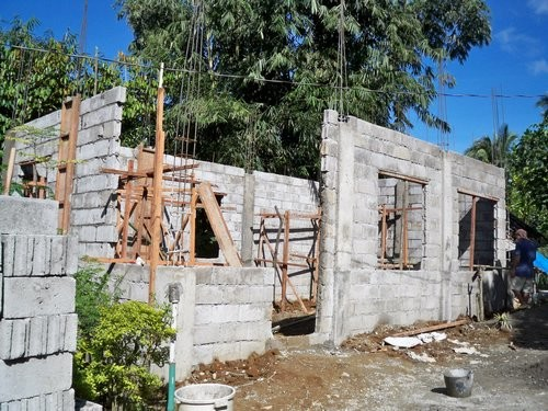 Building Concrete Block House Part Philippines