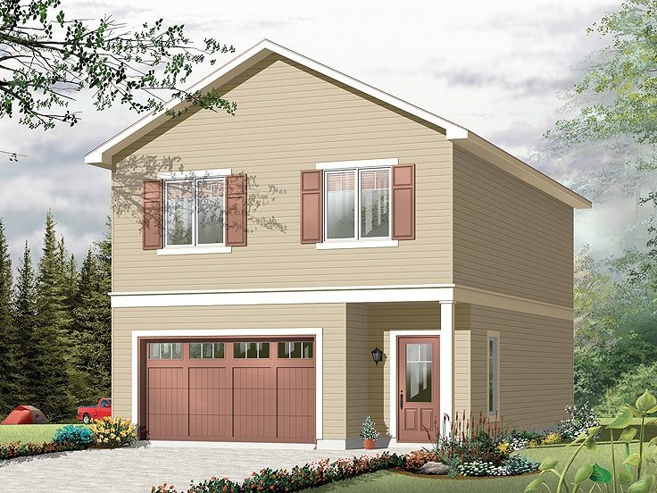 Building House Top Garage Floor Plans Windows