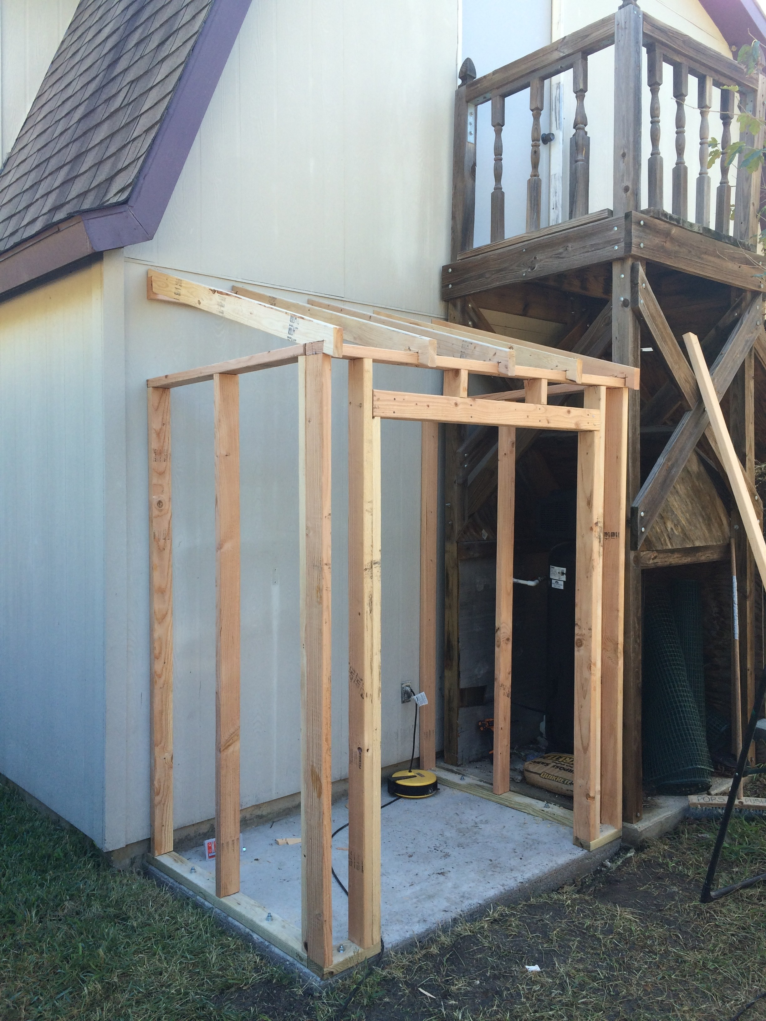Building Lean Shed Framing Siding Wilker