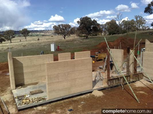 Building Rammed Earth Completehome