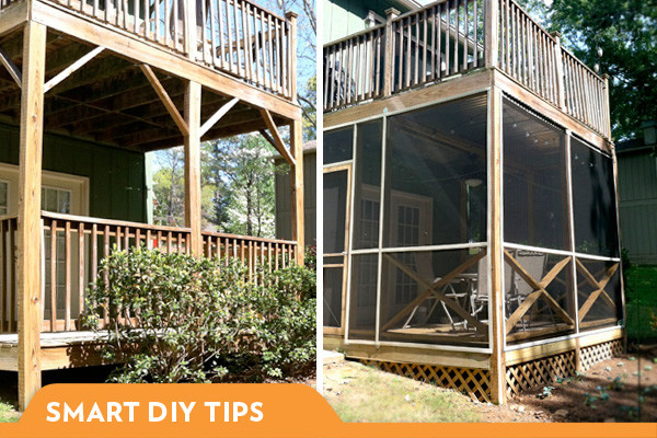 Building Screened Porch Diy