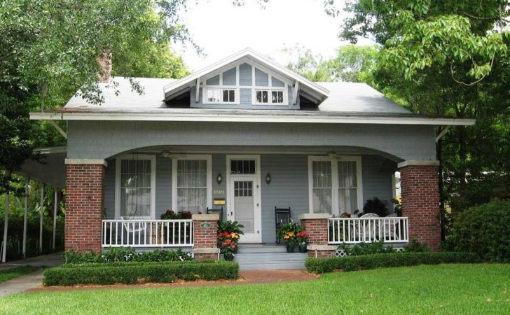 Bungalow House Design Front Porch Yard