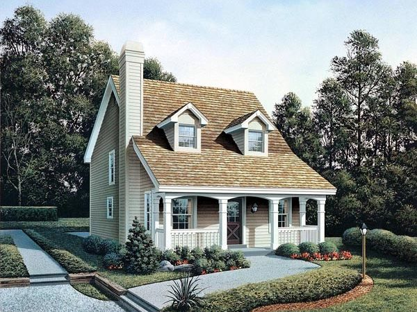 Cabin Cape Cod Cottage Country House Plan