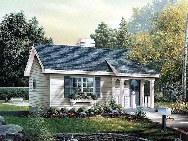 Cabin Colonial Cottage Country Ranch House Plan