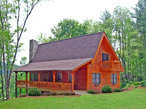 Cabin Country Log House Plan