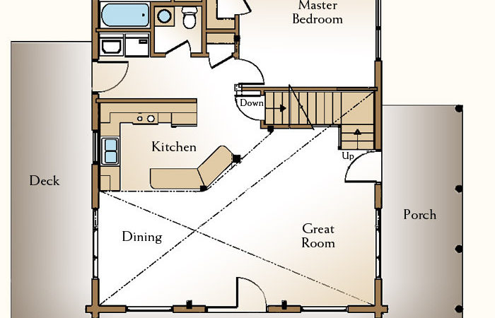 Cabin Floor Plan Loft Plans Same Yte