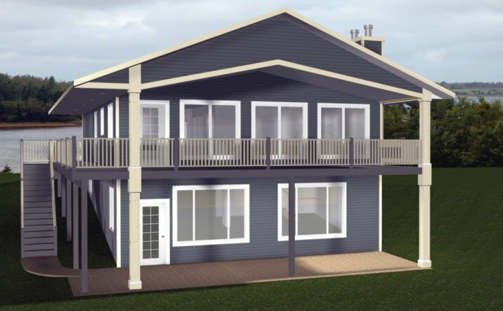 Cabin House Plans Walkout Basement Country
