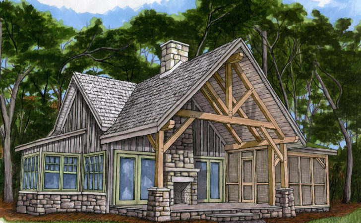 Cabin Plans Loft Porch Joy Studio Design