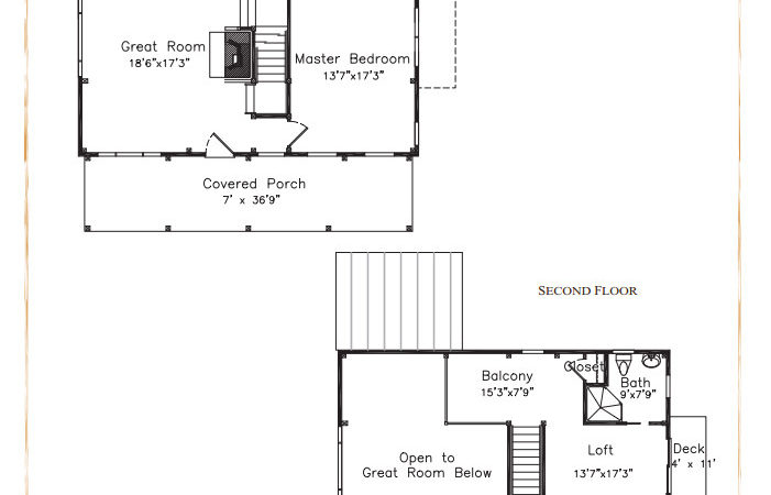 Cabin Plans Loft Porch Joy Studio