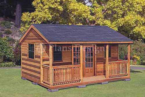 Cabin Shed Guest House Building Plans Ebay