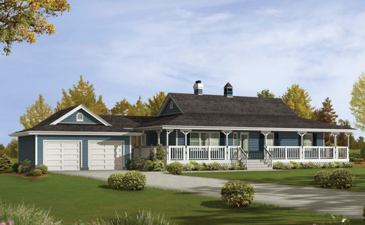 Caldean Country Ranch Home Plan House Plans