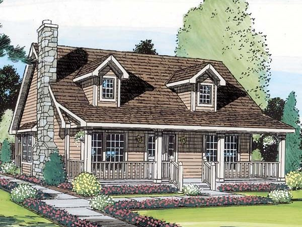 Cape Cod Cottage Country Saltbox House Plan