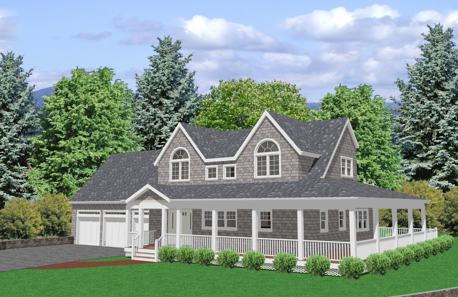 Cape Cod House Plan Bedroom Traditional