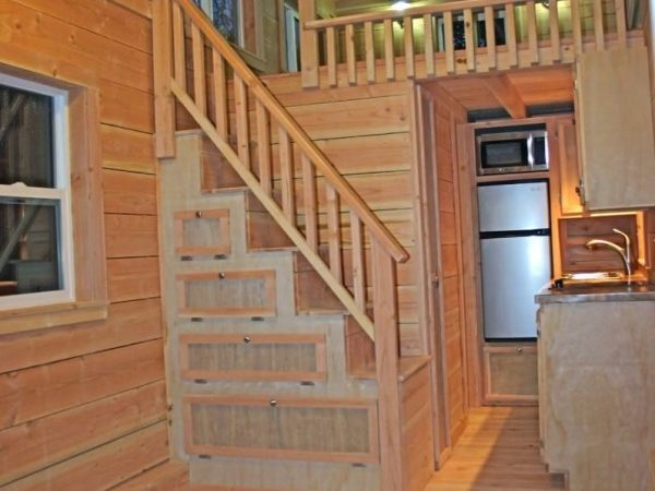 Cape Cod Molecule Tiny House Sale Two Lofts Stairs