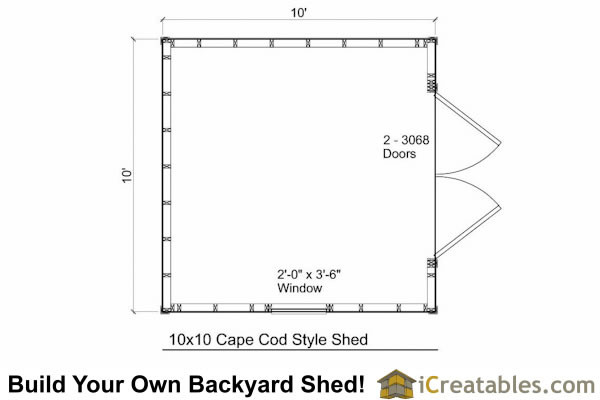 Cape Cod Shed Plans Storage