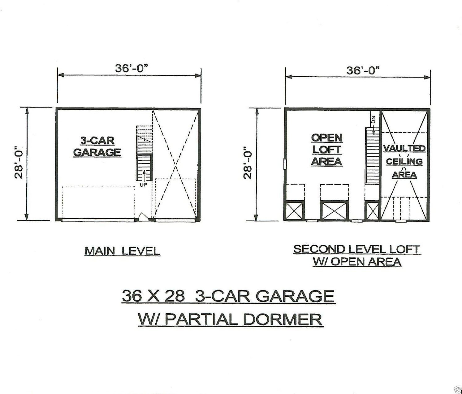 Car Garage Building Plans Dormered Loft