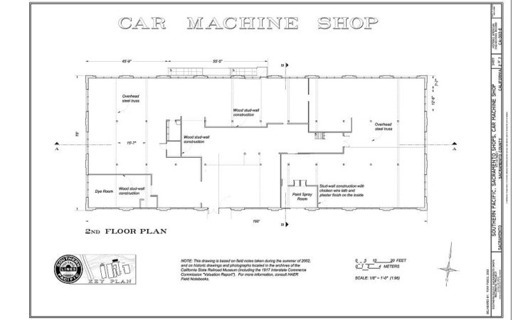 Car Machine Shop Floor Plan Southern Pacific