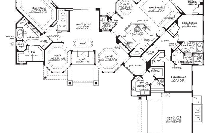 Cardiff Home Plan Sater Design Collection Luxury House