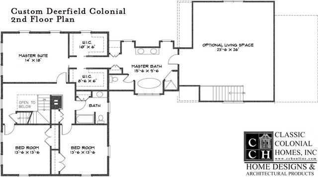 Cch Custom Deerfield Colonial Floor Plan Other Metro