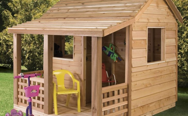 Cedar Shed Cabin Playhouse Outdoor Playhouses