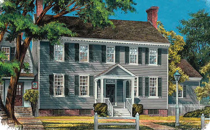 Center Hall Colonial Architectural Designs