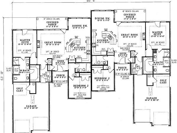 Charming Duplex House Plan Floor Master