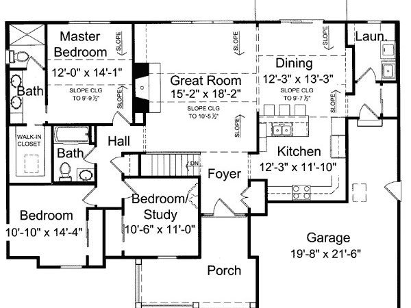 Charming One Level House Plan Floor Master