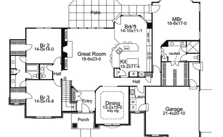 Chateau One Story Home Plan House Plans