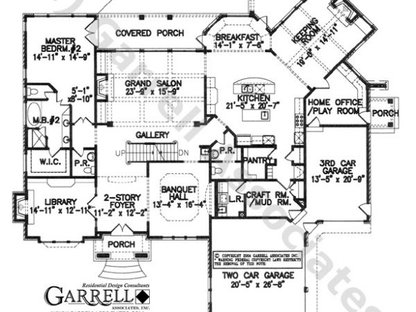 Cherbourg Manor House Plan Floor French