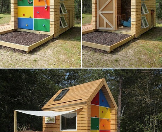 Childrens Outdoor Playhouse Plans Diy
