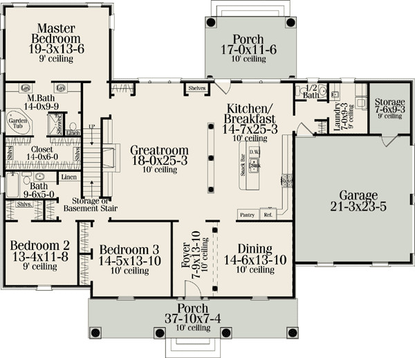 Classic American Home Plan Floor Master