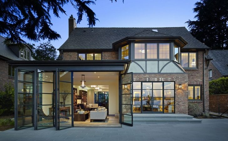 Classic Seattle Lakefront House Gets Bookish Modern Twist
