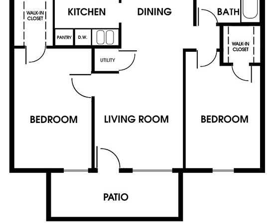 Clearview Apartments Mobile Alabama Bedroom Floor Plan