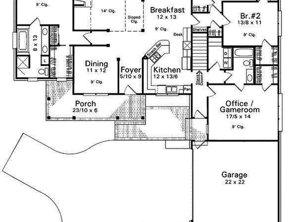 Clement Southern Ranch Home Plan House Plans