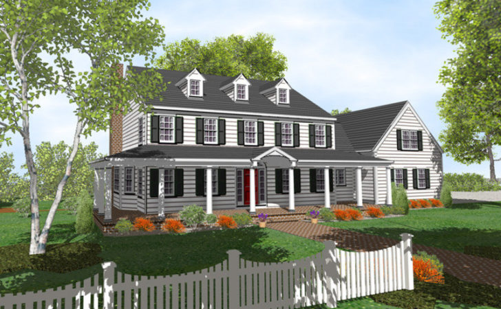 Colonial House Plans Design Bookmark