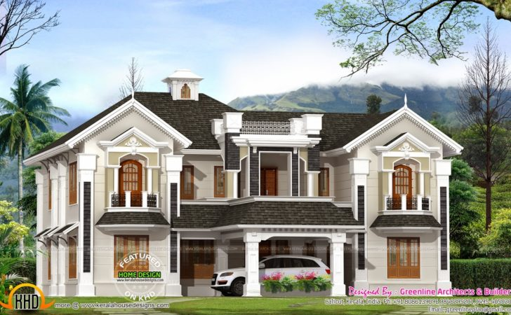 Colonial Style House Kerala Home Design