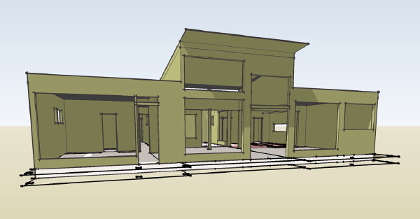 Commercial Garage Plan Over House Plans