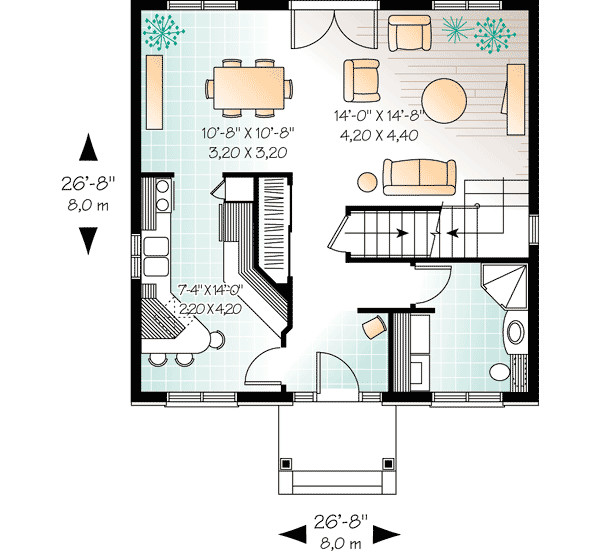 Compact Two Story House Plan Architectural